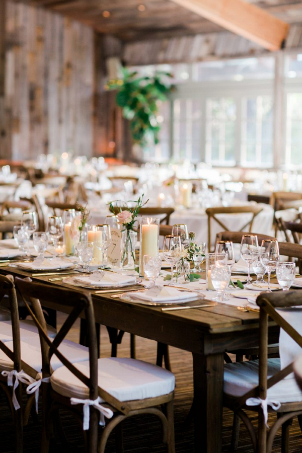 Rustic ranch wedding reception