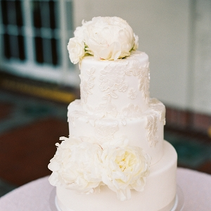 elegant white cake on Elizabeth Anne Designs