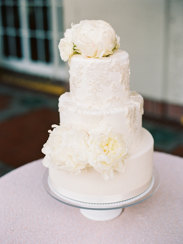 elegant white cake on Elizabeth Anne Designs