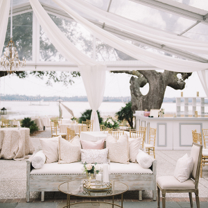 Blush and Gold Wedding Lounge
