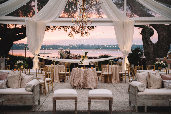 Tent Reception at Sunset