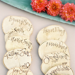 Wood slice escort cards