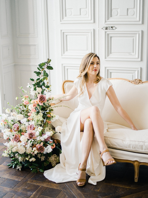 French chateau bridal session