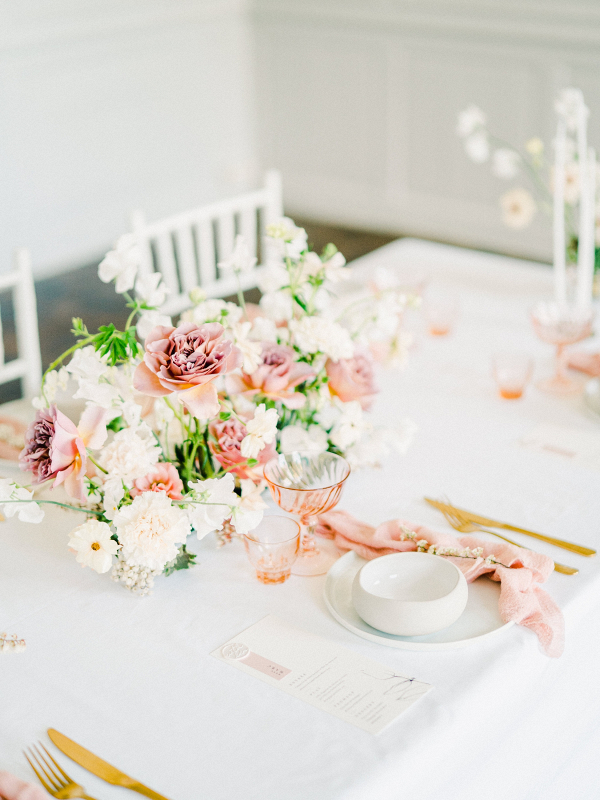 Spring French chateau wedding table