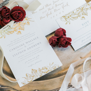 Gold Invitations by Minted