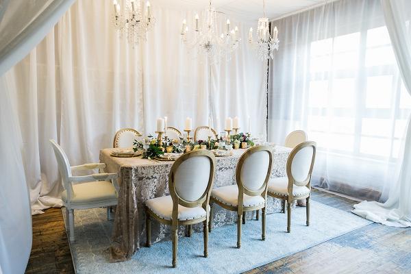 Elegant Tented Wedding Reception