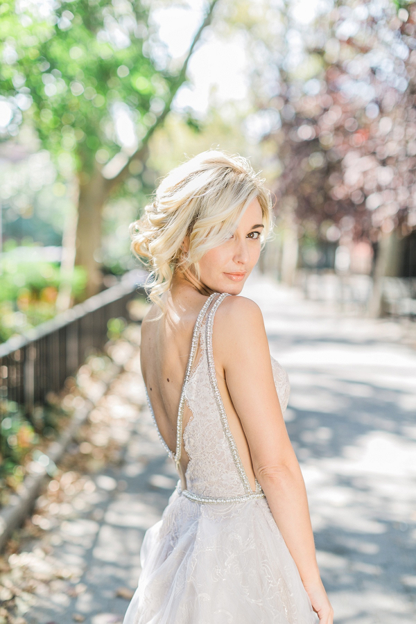 Silver Galia Lahav Bride Gown