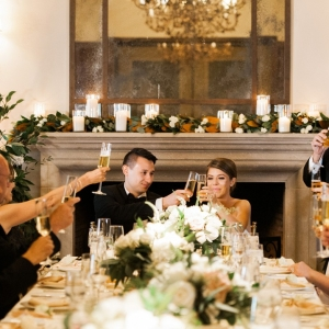 Bride and Groom at King's Table