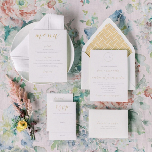 Elegant traditional wedding invitations