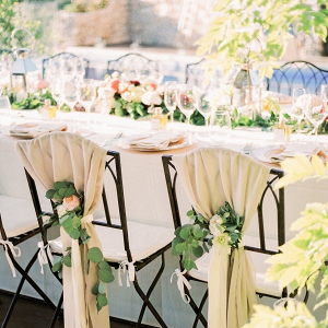 Elegant wedding chair decoration