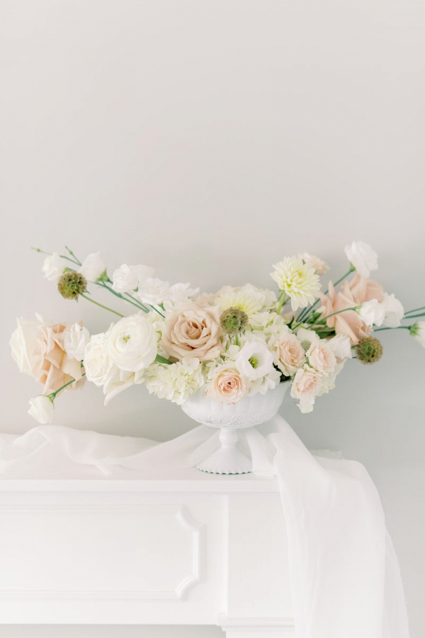 Light ethereal wedding centerpiece