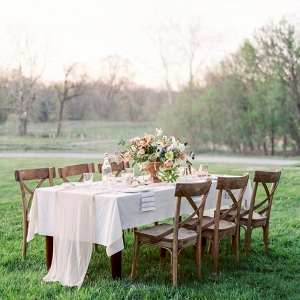 Rustic Elegant Pale Coral Wedding Table