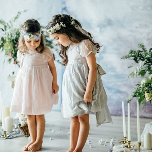 Flower Girls Dressed as Fairies
