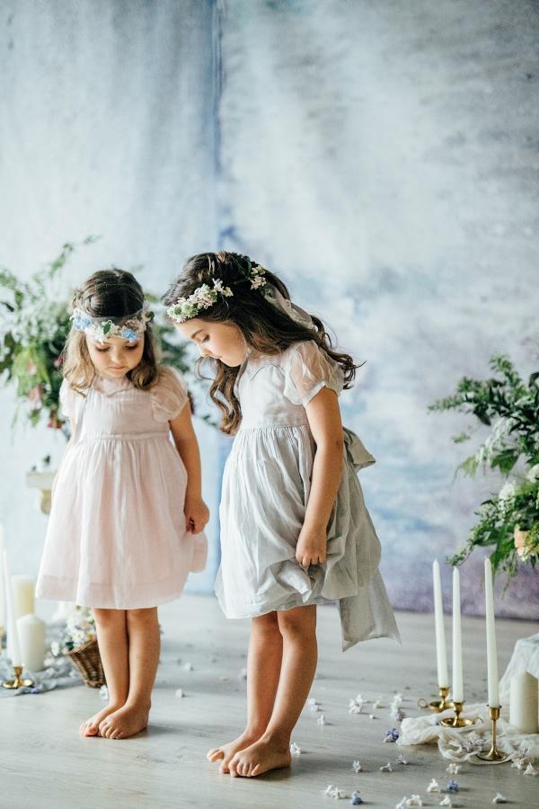Flower Girls Dressed as Fairies