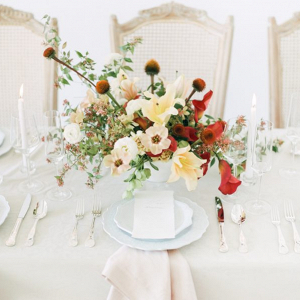 Lily Ranunculus calla wedding centerpiece