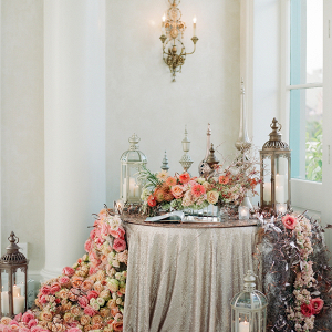 Opulent floral and lantern display