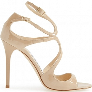 Jimmy Choo Lang Sandal Nude Side