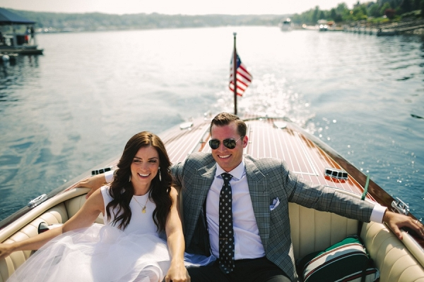 Couple on boat on Elizabeth Anne Designs