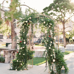 Lush greenery ceremony arch