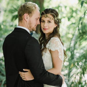 Tropical organic wedding