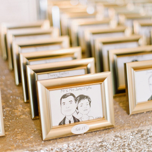 Framed illustrated placecards