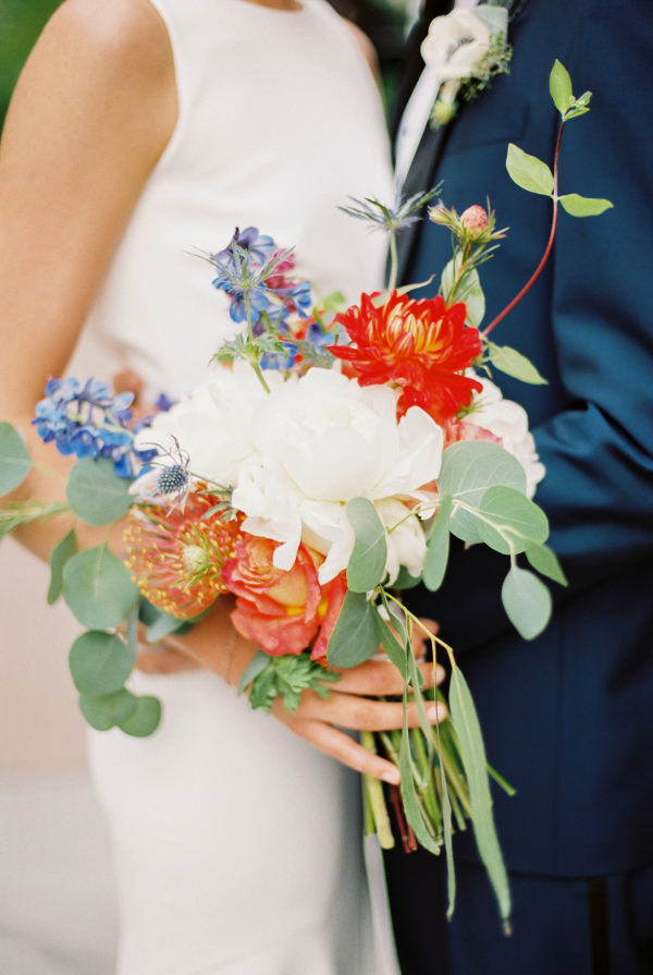 Bouquet with Protea and Peony