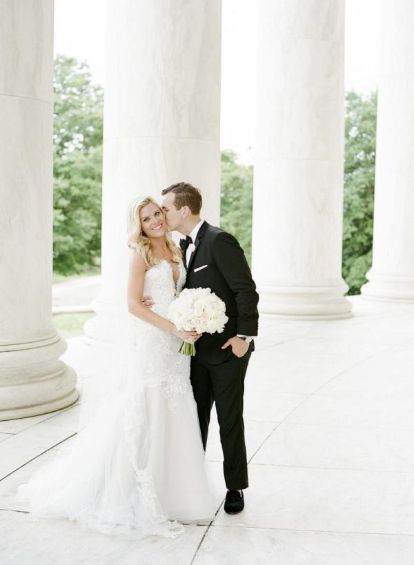 Formal wedding portrait