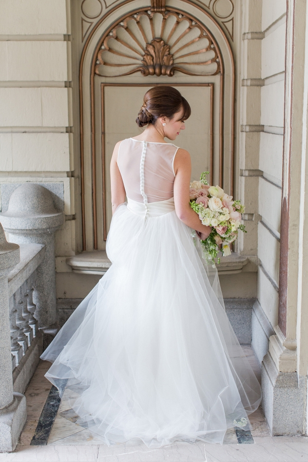 Amsale Tulle Gown