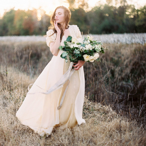 Cotton field bride