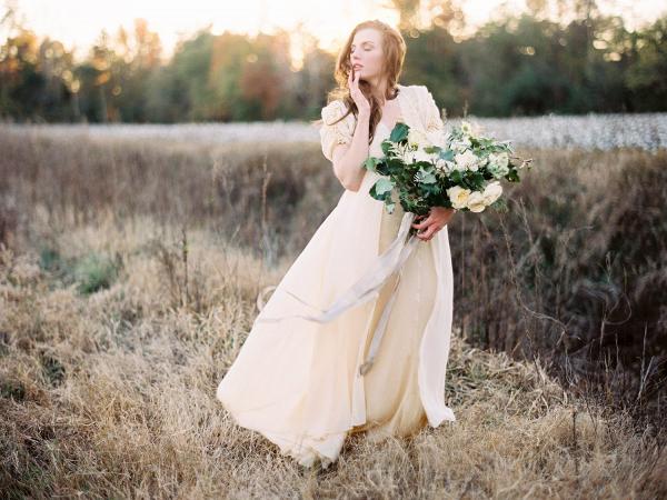 Cotton field bride