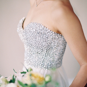 Crystal bodice wedding dress