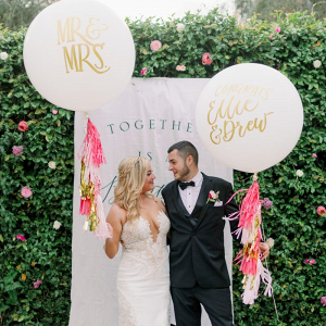 Custom oversized wedding balloons