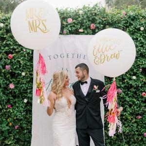 Custom oversized wedding balloons