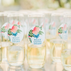 Personalized wedding drink decals