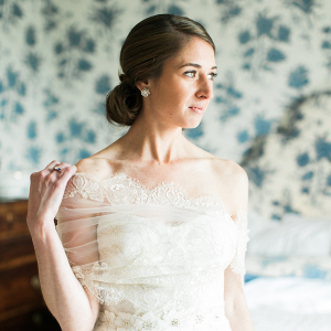 Elegant Bride in Monique Lhuillier