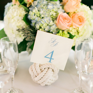 Nautical rope centerpiece
