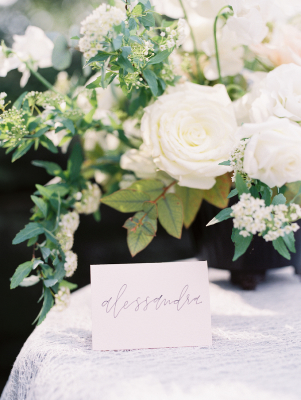 Modern Calligraphy Place Card