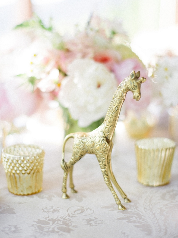 Gold animal decor on Elizabeth Anne Designs