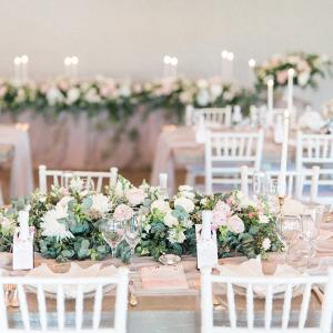 White and Blush Elegant Wedding in Loft
