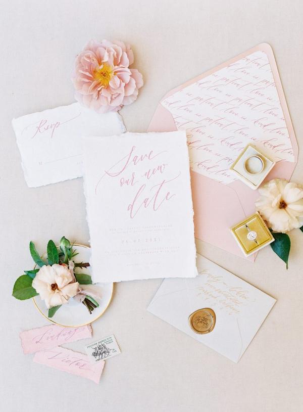 Lovely calligraphy wedding invitations