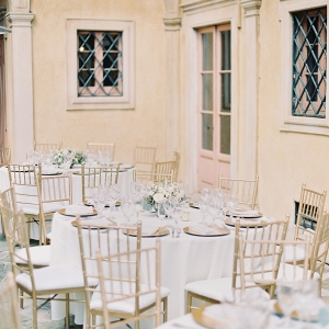 Romantic outdoor reception area on Elizabeth Anne Designs