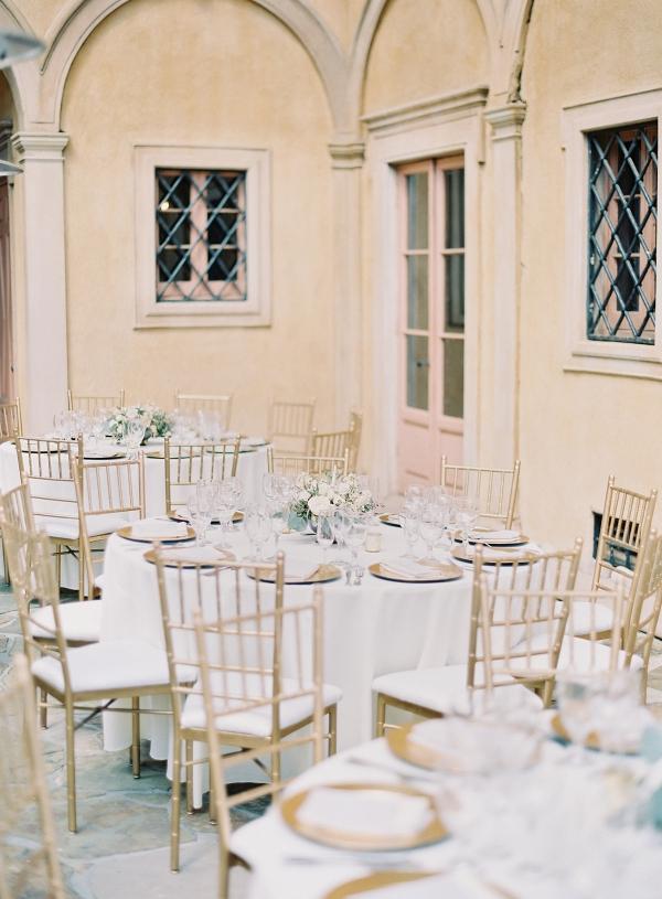 Romantic outdoor reception area on Elizabeth Anne Designs