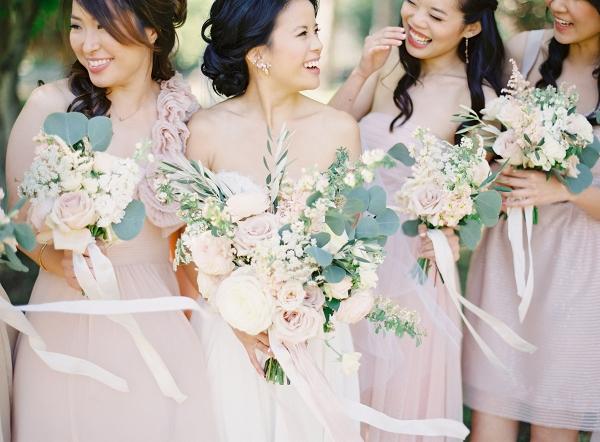 Windswept Blush Bridesmaids on Elizabeth Anne Designs