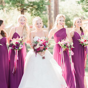 Bridesmaids in Magenta