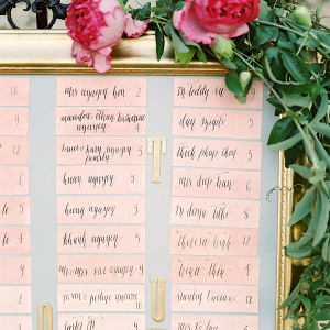 Watercolor Escort Cards on Elizabeth Anne Designs