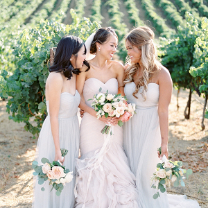 Bridesmaids in Pale Blue on Elizabeth Anne Designs