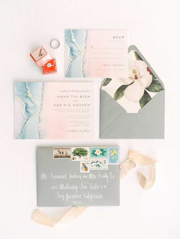 Minted Agate Wedding Invitations on Elizabeth Anne Designs
