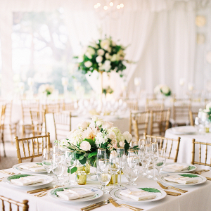 Romantic and Elegant Tent Wedding Reception