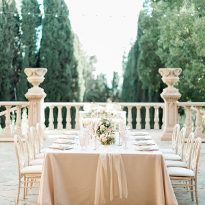 Italian garden wedding reception table
