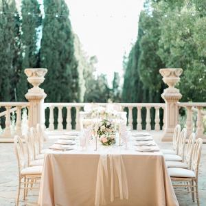 Italian garden wedding reception table